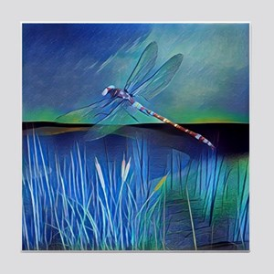 Dragonfly Pond Tile Coaster